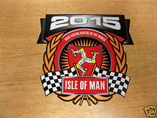 1x decal - ISLE OF MAN RACES 2015 crest/shield - size 90mm