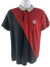 Giordano Polo Shirt Tapered Fit Red/Black Rugby SZ L  Soccer Athletic