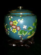 Antique Chinese Cloisonne Bowls with Lid Marked