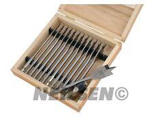 13pc LEGNO Drill Bit Set PIATTO PANE GAMBO ESAGONALE 150mm 6mm lunghezza fino a 25mm FALEGNAMERIA