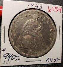1843 Seated Liberty Dollar 6154