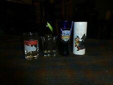 STAR WARS DISNEY WORLD Theme Park SHOT GLASS Set Of 4 Mixed VG !