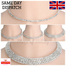 Simulated Alloy Rhinestone Costume Necklaces & Pendants
