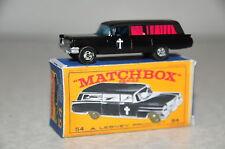 Custom Matchbox SF 54 S&S Cadillac Leichenwagen + Box boxed Code 3 Hearse Corpse