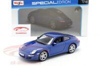 PORSCHE 911 (997) Carrera S blue 1:18 Maisto NEW! SPECIAL EDITION