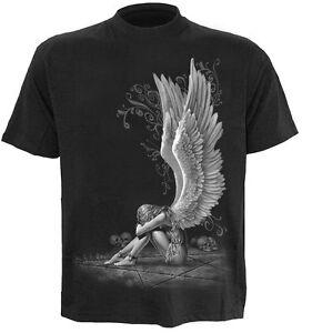 SPIRAL DIRECT ENSLAVED ANGEL T-Shirt Biker/Tattoo/Angel/Goth/Pentagram/Tee