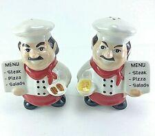 (2 Pcs) Italian Chef Ceramic Salt & Pepper Shakers