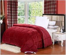 Luxury Down Alternative Hypoallergenic Full / Queen Comforter Burgundy Red