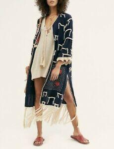 Free People Amelia Crochet Fringe Kimono Brand New With Tags Free UK P&P RRP£168