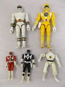 Mighty Morphin' Power Rangers Vintage Toy Bundle Job Lot Yellow White Black Red