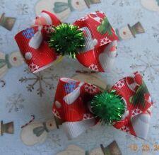 Christmas Dog Bows