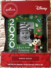 2020 Hallmark Christmas Tree Ornament Baby's First Minnie Mouse Green New