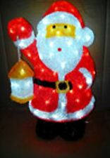 45cm Santa with Lantern Acrylic Motif with 120 LED Bulbs