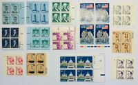 Lot of 13 High Value Mint US Plate Blocks MNH Catalog Value $100+