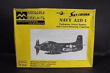 Vintage Microscale Model Kits 1/48 Skyshark Navy A2D-1 Bomber Airplane #MS4-1