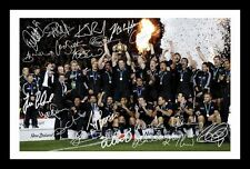 NEW ZEALAND ALL BLACKS 2011 RUGBY WORLD CUP WINNDERS SIGNED & FRAMED PP  PHOTO