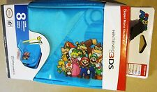 Nintendo Characters 3DS Mario Luigi Peach Toad Bowser Starter Kit Blue 8 Pc NEW!