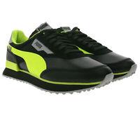 PUMA Future Rider Risk Alert Sneaker coole Schuhe mit dicker Sohle Schwarz/Gelb