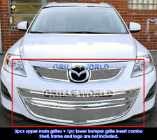 SS 1.8mm Mesh Grille Combo For 2010-2013 Mazda CX9 CX-9