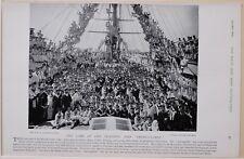 1896 BOER WAR ERA TRAINING SHIP IMPREGNABLE SAILORS BOYS ROYAL NAVY