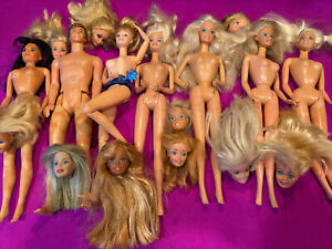 Barbies Vintage Mattel Huge Parts Junk Lot Sold As Is Auction Special 😁
