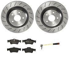 Brembo Rear Brake Kit Ceramic Pads with Sensor Disc Rotors For Mb R230 Sport Pkg