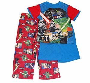 Lego Star Wars Boy's 3-Piece Pajama Pants, Shorts Set, Yoda, Darth Vader, Size 4