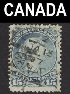Canada Scott 30 F+ used. Beautiful SOTN Kingston cds. Free ship for any add...
