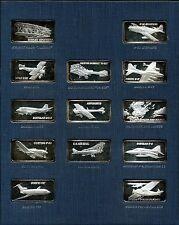 Hamilton Mint 1974 World Of Flight .999 1 oz Set of 50 Silver Proof Art Bars