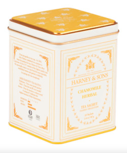 Harney and Sons Chamomile Herbal Tea Classic 20 Sachet Tin
