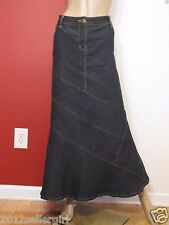 NWOT BISOU BISOU MICHELE BOHBOT BLUE JEAN LONG MAXI MERMAID DENIM SKIRT SZ 20W
