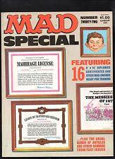 Mad Magazine Special #22 Fine/Fine+ (Diplomas Certificates Attached) Ec