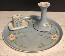 Antique P & P Limoges Hand Painted Porcelain Dresser Set Artist Signed Date 1913