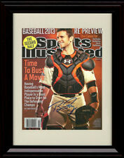 Framed Buster Posey Sports Illustrated Autograph Print San Francisco Giants