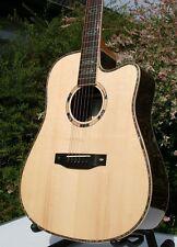 Edel Western guitarra Massive Sitka pícea madreperla Fishman-pu huesos sillín + steg