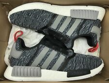 Adidas NMD R1 Glitch Camo Black Grey White Red BB2884 Sz 10.5