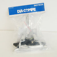 DIA-COMPE DC165EX Brake Lever Left & Right (Pair) Silver with Rubber Hoods Black