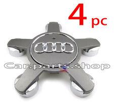 4x Audi Wheel Center Caps Emblem- Wheel Cover Hub A4 A5 A6 A7 Q5 TT 4F0 601 165N