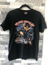 Men's VTG HARLEY-DAVISON 3D Emblem 90s T-Shirt-The Great American Hog-Black-Sz M