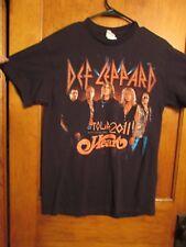 Def Leppard/ Heart Rock Band-2011 Tour T shirt-size Medium- Great Condition