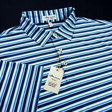 Peter Millar Summer Comfort Crown Sport Performance Stretch Striped Polo Shirt