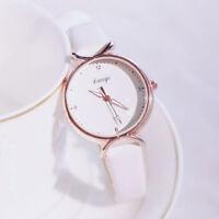 Women Girl Classic Quartz Wrist Watch PU Leather Strap Candy Color Watch Fashion