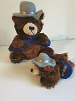 Two Canada Post Mail Carrier Plush Brown Bear's - Stuffed Animal Mailman