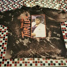 Michael Jackson Acid DISTRESSED XXL T-shirt Thriller LP Cover Tour Concert Album