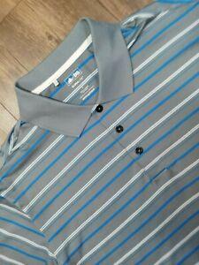 Adidas Shirt Adult Large Gray Blue Lightweight Casual Golf Golfer Rugby Men A36*