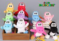 "10 Pcs New Super Mario Bros. YOSHI Plush Doll Soft Toy Keychain 4.5"" Pendant NEW"