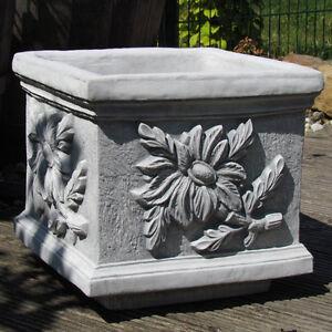 Pflanzgefäß, Pflanztrog, Pflanzpokal, Bodenvase, Blumenkübel
