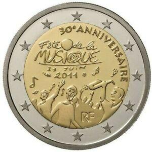 2 Euro Commémorative France 2011 - Fete de la musique -