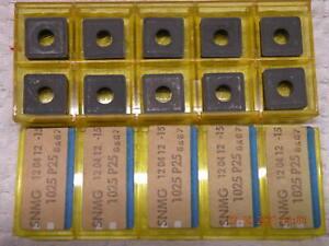 x10 Sandvik SNMG 120412-15 1025 P25 Carbide inserts new