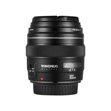 YONGNUO YN100mm F2 Medium Telephoto Prime Lens for Canon EOS Camera AF MF100mm